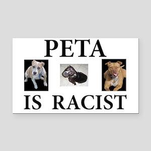 BAN PETA & BSL Rectangle Car Magnet