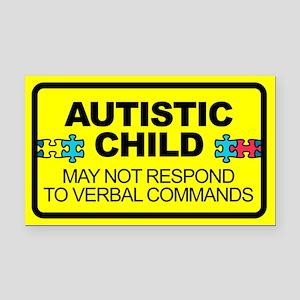 Autism Child Car Decal Rectangle Car Magnet