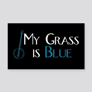 My Grass is Blue Rectangle Car Magnet