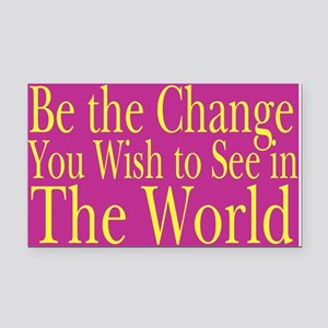 Be the Change (bright) Rectangle Car Magnet
