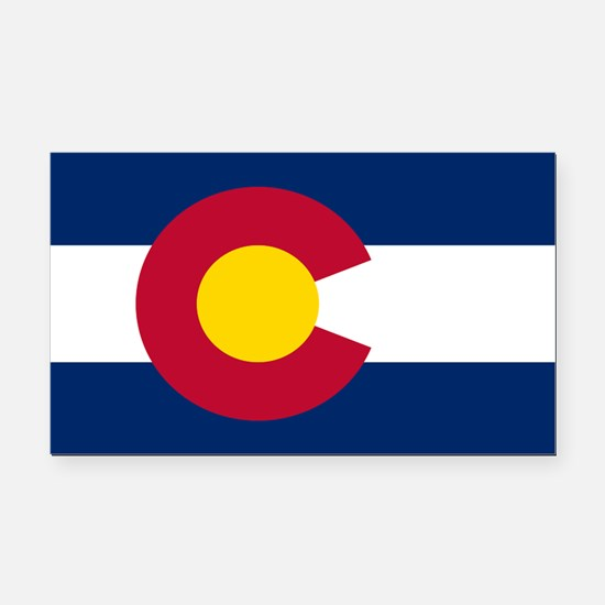 Colorado State Flag Rectangle Car Magnet