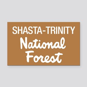 Shasta-Trinity National Forest (Sign) Rectangle Ca