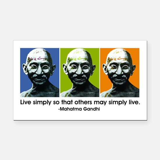 Live simply (white) Rectangle Car Magnet