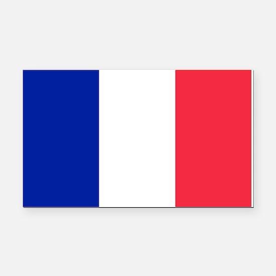 French Flag Rectangle Car Magnet
