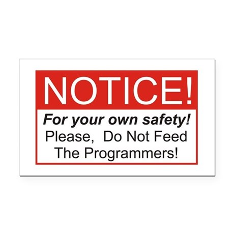 Notice / Programmers Rectangle Car Magnet