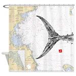 Tuna Tail On Mass Bay Shower Curtain
