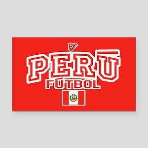 Peru Futbol/Soccer Rectangle Car Magnet