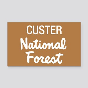 Custer National Forest (Sign) Rectangle Car Magnet