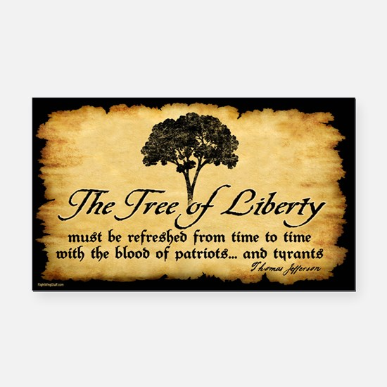 Tree of Liberty Quote - T. Jefferson Rectangle Car