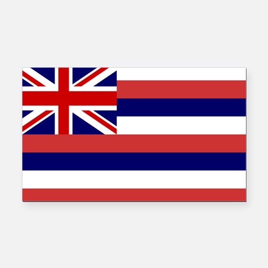 Hawaii Flag Rectangle Car Magnet