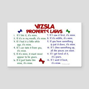 Vizsla Property Laws 2 Rectangle Car Magnet