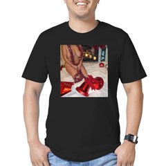 christmas tinsel Men's Fitted T-Shirt (dark)