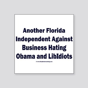 "Florida Independent Square Sticker 3"" x 3"""