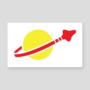 Space Logo Rectangle Car Magnet