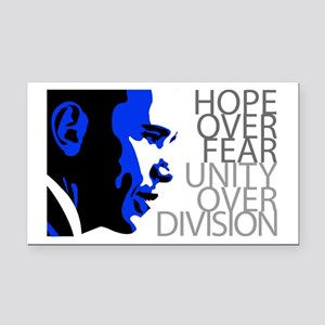 Obama - Hope Over Division - Blue Rectangle Car Ma