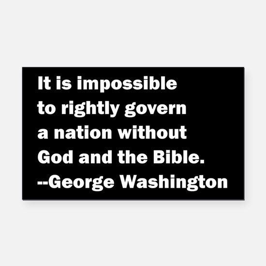 George Washington Quote Rectangle Car Magnet