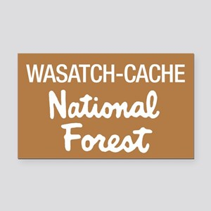 Wasatch-Cache (Sign) National Rectangle Car Magnet