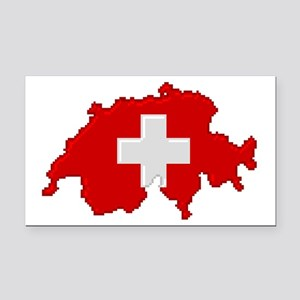 """Pixel Switzerland"" Rectangle Car Magnet"