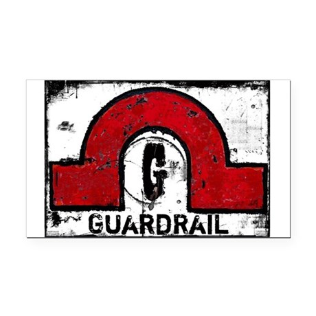 Guardrail Rectangle Car Magnet