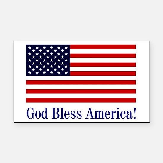 God Bless America Rectangle Car Magnet