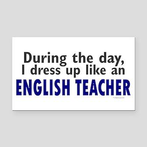 Dress Up Like An English Teacher Rectangle Car Mag