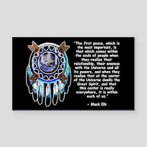 Black Elk Quote Rectangle Car Magnet