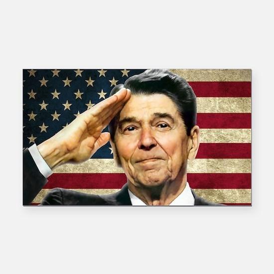 Reagan Salute... Rectangle Car Magnet