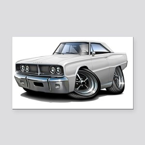 1966 Coronet White Car Rectangle Car Magnet