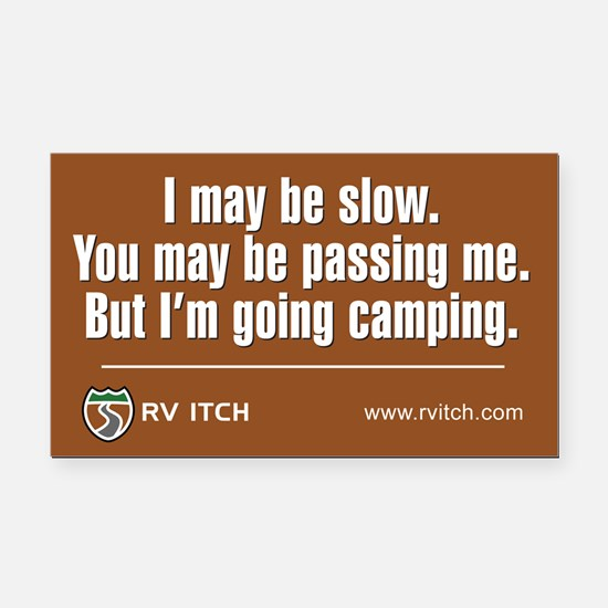 RV Itch I'm Going Camping Rectangle Car Magnet