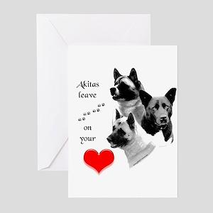 Akita 3 Greeting Cards (Pk of 10)
