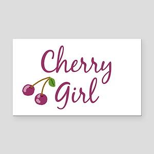 Cherry Girl Rectangle Car Magnet