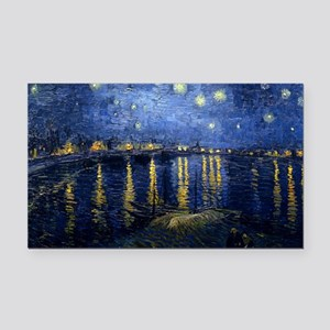 Starry Night Over the Rhone Rectangle Car Magnet