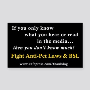 Fight Anti-Pet & BSL Rectangle Car Magnet