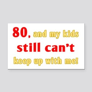 Witty 80th Birthday Rectangle Car Magnet