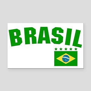 Brazil (Brasil) Rectangle Car Magnet