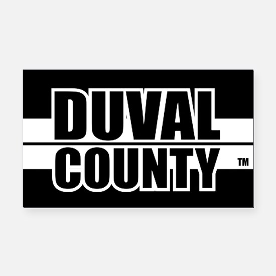 Duval County Rectangle Car Magnet