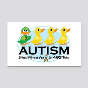 Autism Ugly Duckling Rectangle Car Magnet