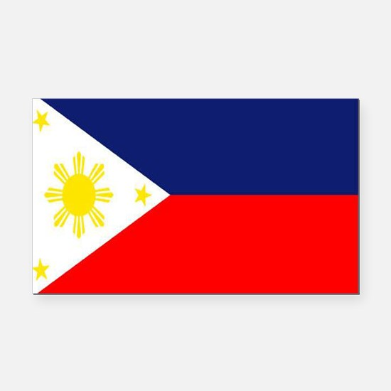 PHILIPPINE ISLAND FLAG Rectangle Car Magnet
