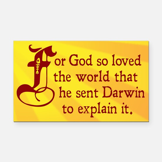 For God So Loved Darwin Rectangle Car Magnet