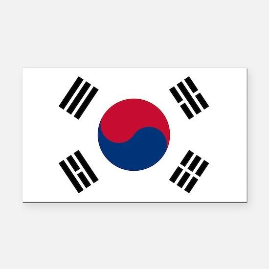 Korean Flag Rectangle Car Magnet