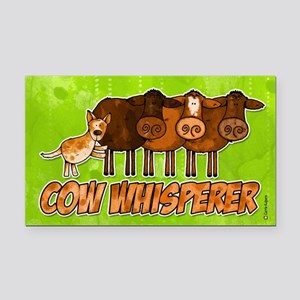 cow whisperer red heeler Rectangle Car Magnet