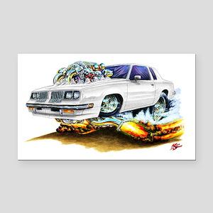 1983-88 Cutlass White Car Rectangle Car Magnet