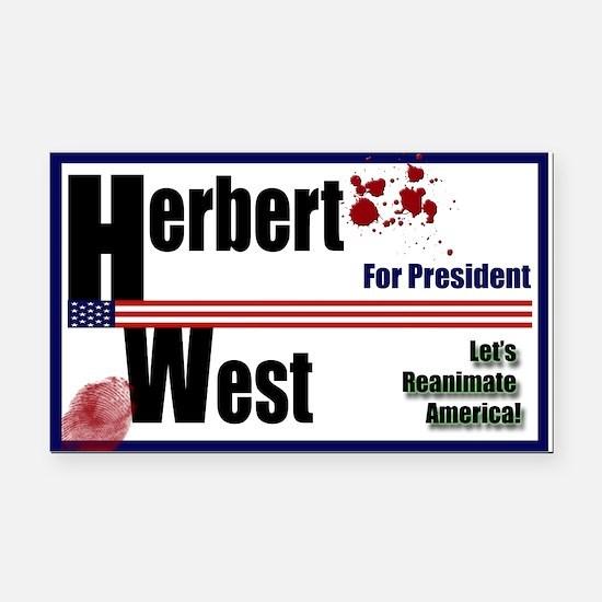 Herbert West reanimator president Rectangle Car Ma