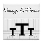 Naley - Always Forever Tile Coaster