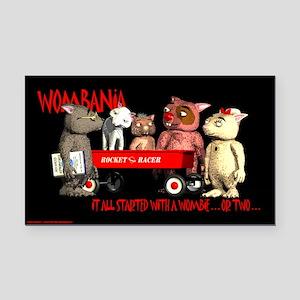 """Wombania 3"""" x 5"""" Rectangle Car Magnet"""