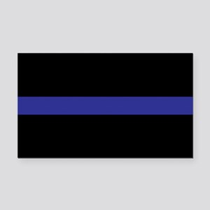 Thin Blue Line Rectangle Car Magnet