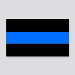 the thin blue line Rectangle Car Magnet