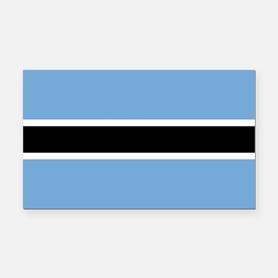Botswana Flag Rectangle Car Magnet