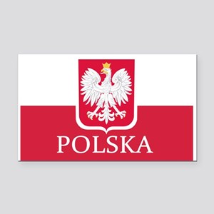 Polish Flag Rectangle Car Magnet