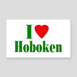 I Love Hoboken Rectangle Car Magnet